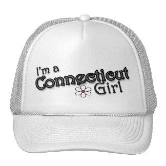 I'm a Connecticut Girl, Flower Ladies Baseball Cap Trucker Hat