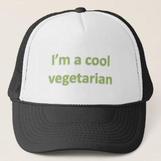 i'm a cool vegetarian trucker hat