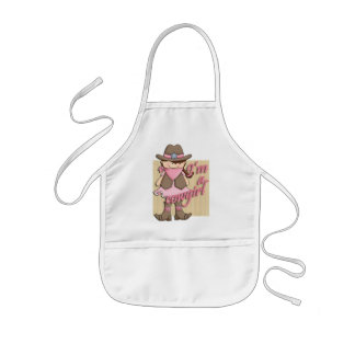 I'm A Cowgirl Little Dude Western Kids Apron