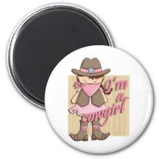 I'm A Cowgirl Little Dude Western Magnet