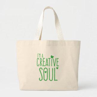 I'm a Creative Soul Jumbo Tote Bag