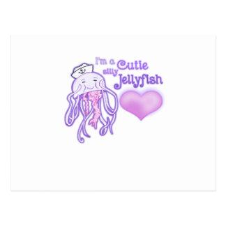 I'm a cutie silly jellyfish postcard