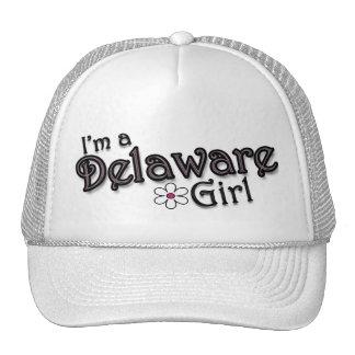 I'm a Delaware Girl, Flower, Ladies Baseball Cap Trucker Hat