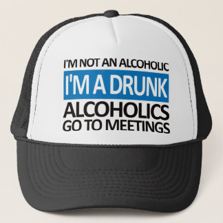 I'm A Drunk - Blue Trucker Hat