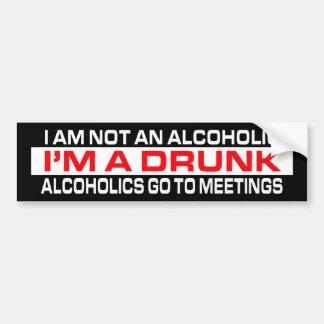 I'm A Drunk Bumper Sticker