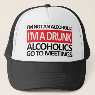 I'm A Drunk - Red Trucker Hat