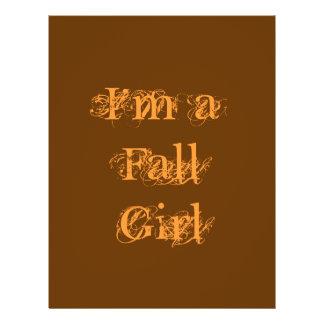 I'm a Fall Girl.  Autumn. 21.5 Cm X 28 Cm Flyer