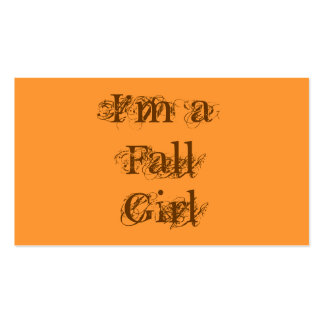 I'm a Fall Girl.  Autumn. Pack Of Standard Business Cards