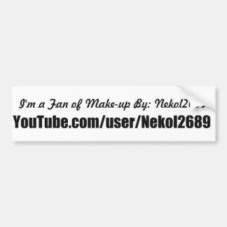 im a fan of nekol2689 on youtube bumper sticker