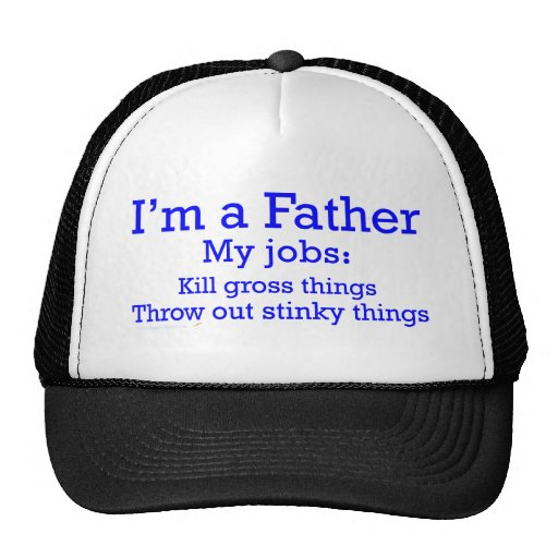I'm a Father Funny Father's Jobs for Dad Mesh Hat