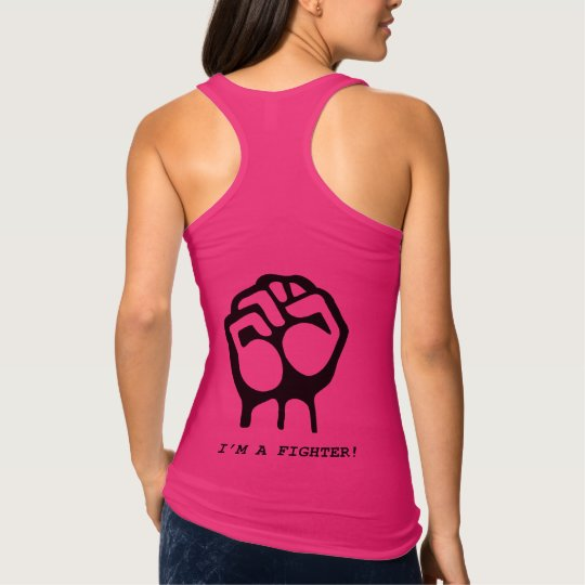 """""""I'm a fighter"""" Girl power tank top"""