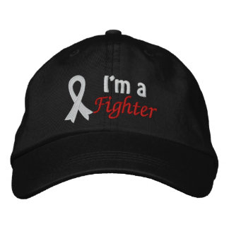 I'm a Fighter - Lung Cancer Embroidered Baseball Cap