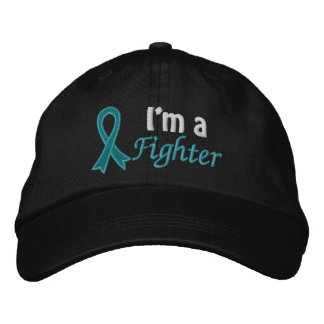 I'm a Fighter - Ovarian Cancer Embroidered Hats