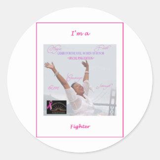 I'm a Fighter Round Sticker