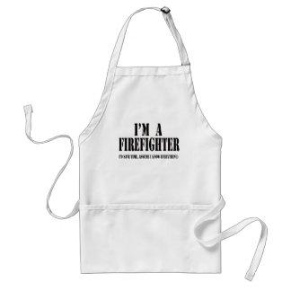I'm a firefighter black standard apron
