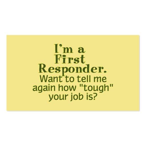 I'm a First Responder... Business Card