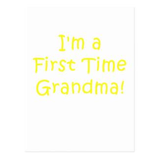 Im a First Time Grandma Postcard