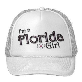 I'm a Florida Girl, Flower, Ladies Baseball Cap Hat