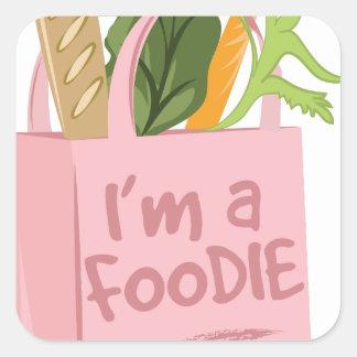 Im A Foodie Square Sticker