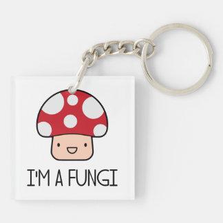 I'm a Fungi Fun Guy Mushroom Key Ring