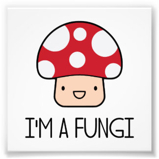 I'm a Fungi Fun Guy Mushroom Photo Print