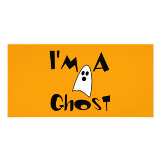 I'm A Ghost Costume Personalised Photo Card