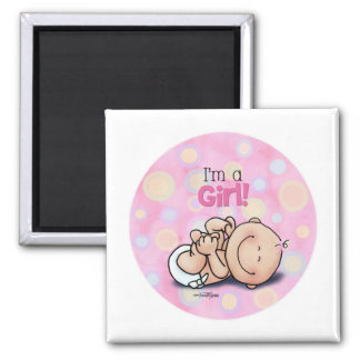 I'm a Girl - new baby Magnet