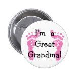 I'm a Great Grandma! Button