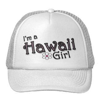 I'm a Hawaii Girl, Flower, Ladies Baseball Cap Mesh Hat