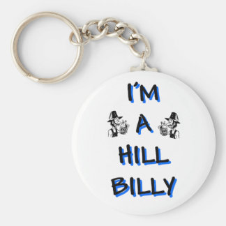 I'm a hillbilly basic round button key ring