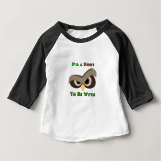 I'm A Hoot Angry Owl Face copy Baby T-Shirt