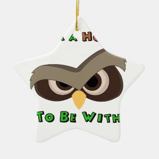 I'm A Hoot Angry Owl Face copy Christmas Ornament