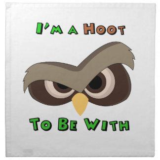 I'm A Hoot Angry Owl Face copy Napkin