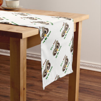 I'm A Hoot Angry Owl Face copy Short Table Runner