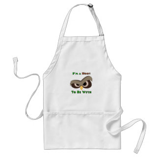 I'm A Hoot Angry Owl Face copy Standard Apron