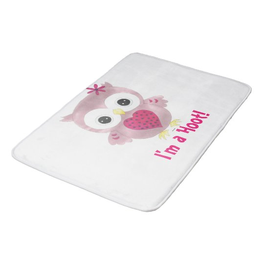 I'm a Hoot! Pink Owl Bath Mat