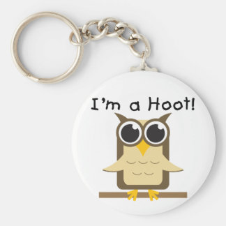 I'm a Hoot T-shirts and Gifts Basic Round Button Key Ring