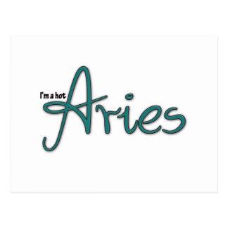 I'm A Hot Aries Postcard