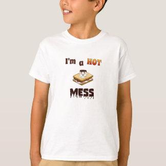 I'm a Hot Mess Funny Kids T-shirt. Tees