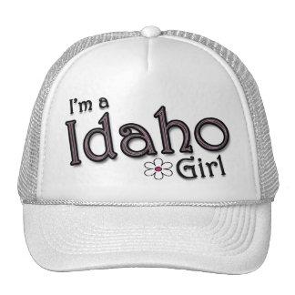 I'm a Idaho Girl, Flower, Ladies Baseball Cap Mesh Hats
