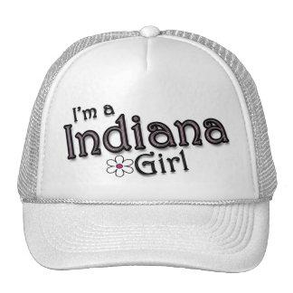 I'm a Indiana Girl, Flower, Ladies Baseball Cap Mesh Hats