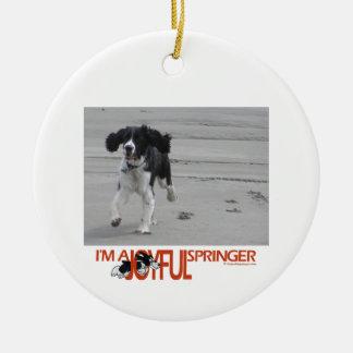 I'm A Joyful Springer Customize With Your Photo Round Ceramic Decoration