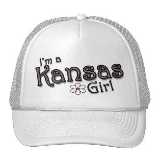 I'm a Kansas Girl, Flower, Ladies Baseball Cap Mesh Hat