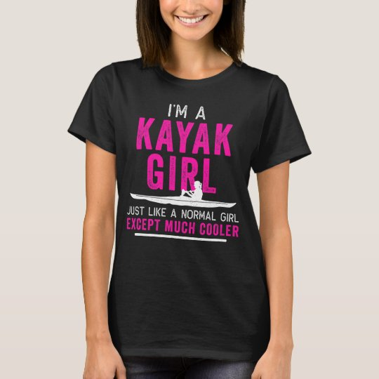 I'm a Kayak Girl Shirt Distressed Pink