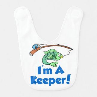 I'm A Keeper Baby Bib
