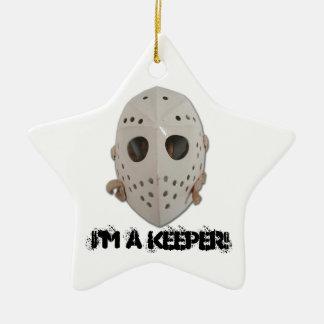 I'M A KEEPER! CERAMIC STAR DECORATION