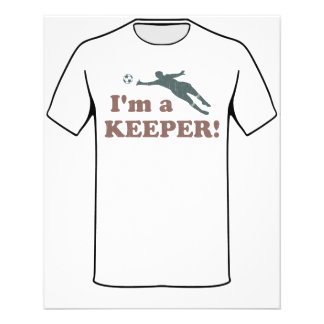 I'm a Keeper Soccer Goalie Personalized Flyer