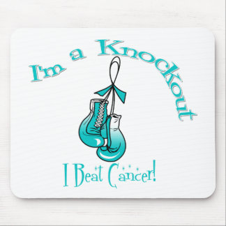 I'm A Knockout I Beat Cervical Cancer Mouse Pad
