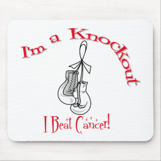 I'm A Knockout I Beat Lung Cancer Mouse Pad