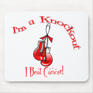 I'm A Knockout I Beat Oral Cancer Mouse Pad
